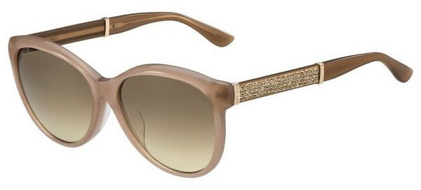Jimmy Choo GLEE/F/S IL4/CC Nude Glitter/ Brown Gradient