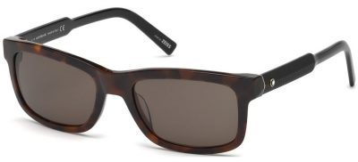 MONT BLANC MB653S 52E Dark Havana / Brown Lenses