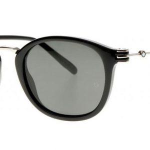 MONT BLANC MB697S 01A Shiny Black/Grey Smoke