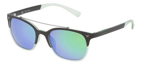 POLICE SPL161 6PCV Semi Matte Black/Blue Green Mirror Polarized