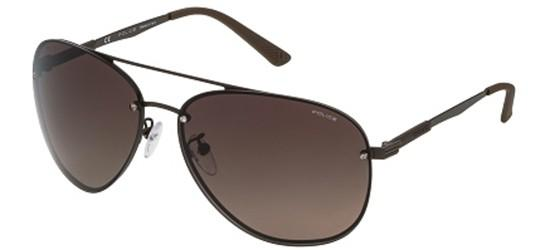 POLICE SPL379 90LP Matte Dark Brown/Brown Shaded Polarized