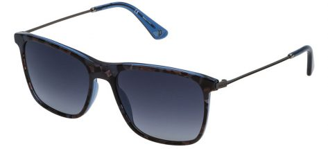 Police SPL572 09D4 Transparent Blue / Havana/Smoke