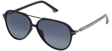 Police SPL582 U28Z Shiny Black/Smoke Gradient Polarized