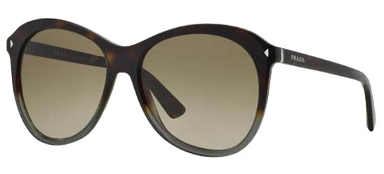 PRADA 13R TKT1/X1 Grey Havana/Brown Gradient