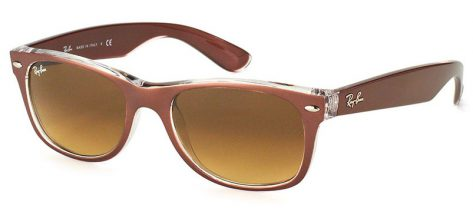 Ray-ban RB2132 6145/85 Top Brushed Brown On Transparent/Brown