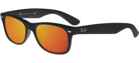 RAY-BAN RB2132 622/69 Matte Black/Crystal Brown Red Mirror
