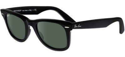 RAY-BAN RB2140F 901/58 Classic Shiny Black/Polarised Green Lens