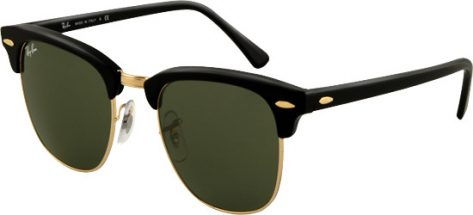 RAY-BAN RB3016 W03/65 Black Gold/Crystal Grey Green