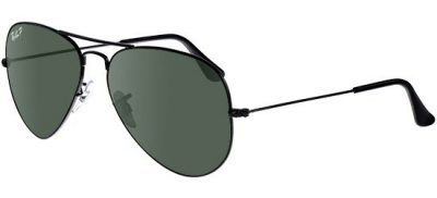 RAY-BAN RB3025 0 0258 Black/G-15 Classic Green
