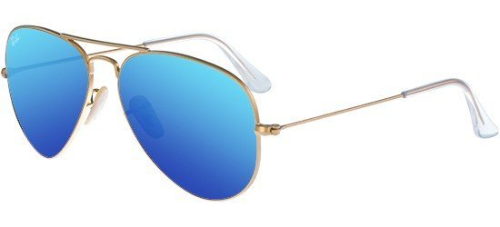 RAY-BAN RB3025 112/17 Matte Gold/Crystal Grey Blue Mirror