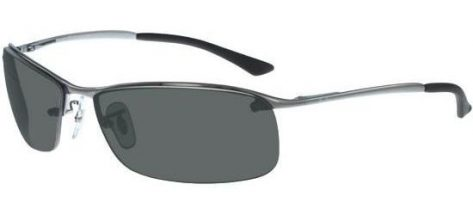 RAY-BAN RB3183 004/9A Gunmetal/Grey Green Polarized