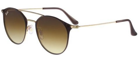 RAY-BAN RB3546 900985 Gold Brown/Brown Shaded