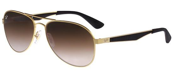 RAY-BAN RB3549 11213 Matte Gold/Brown Shaded