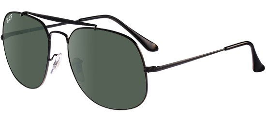 RAY-BAN RB3561 002/58 Black/G-15 Classic Green