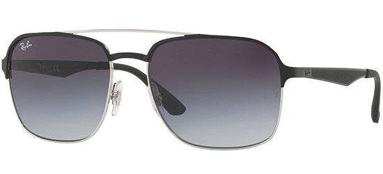 RAY-BAN RB3570 9004/8G Black/Dark Grey Shaded