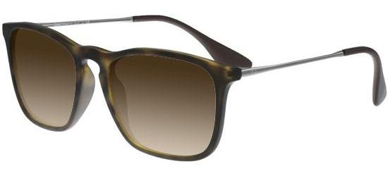 RAY-BAN RB4187 856/13 Matte Havana Rubber Ruthenium/Brown Shaded