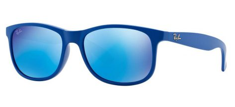 Ray-ban RB4202 6070/55 Matte Blue/Blue Mirror