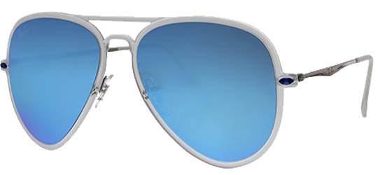 RAY-BAN RB4211 646/55 Matte Trasparent/Green Mirror Blue