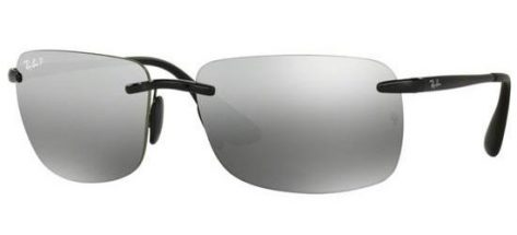 RAY-BAN RB4255 601/5J Shiny Black/Grey Silver Mirror