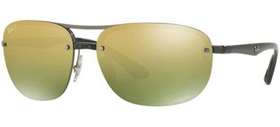 RAY-BAN RB4275CH 876/6O Shiny Grey/Green Gold Shaded