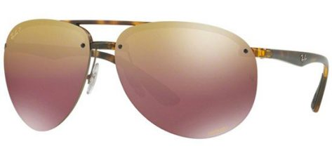 RAY-BAN RB4293CH 710/6B Havana/Purple Gold Shaded