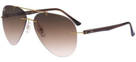 RAY-BAN RB8058 157/13 Gold/Dark Brown Shaded
