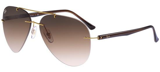 6327ff0651 RAY-BAN RB8058 157 13 Gold Dark Brown Shaded