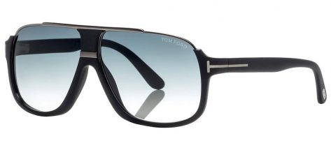 TOM FORD TF335 02W Matte Black/Blue Shaded