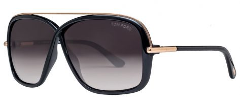 TOM FORD TF455 52F Black Gold/Brown Gradient