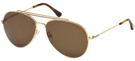 TOM FORD TF497 28H Gold/Brown Gold Polarized